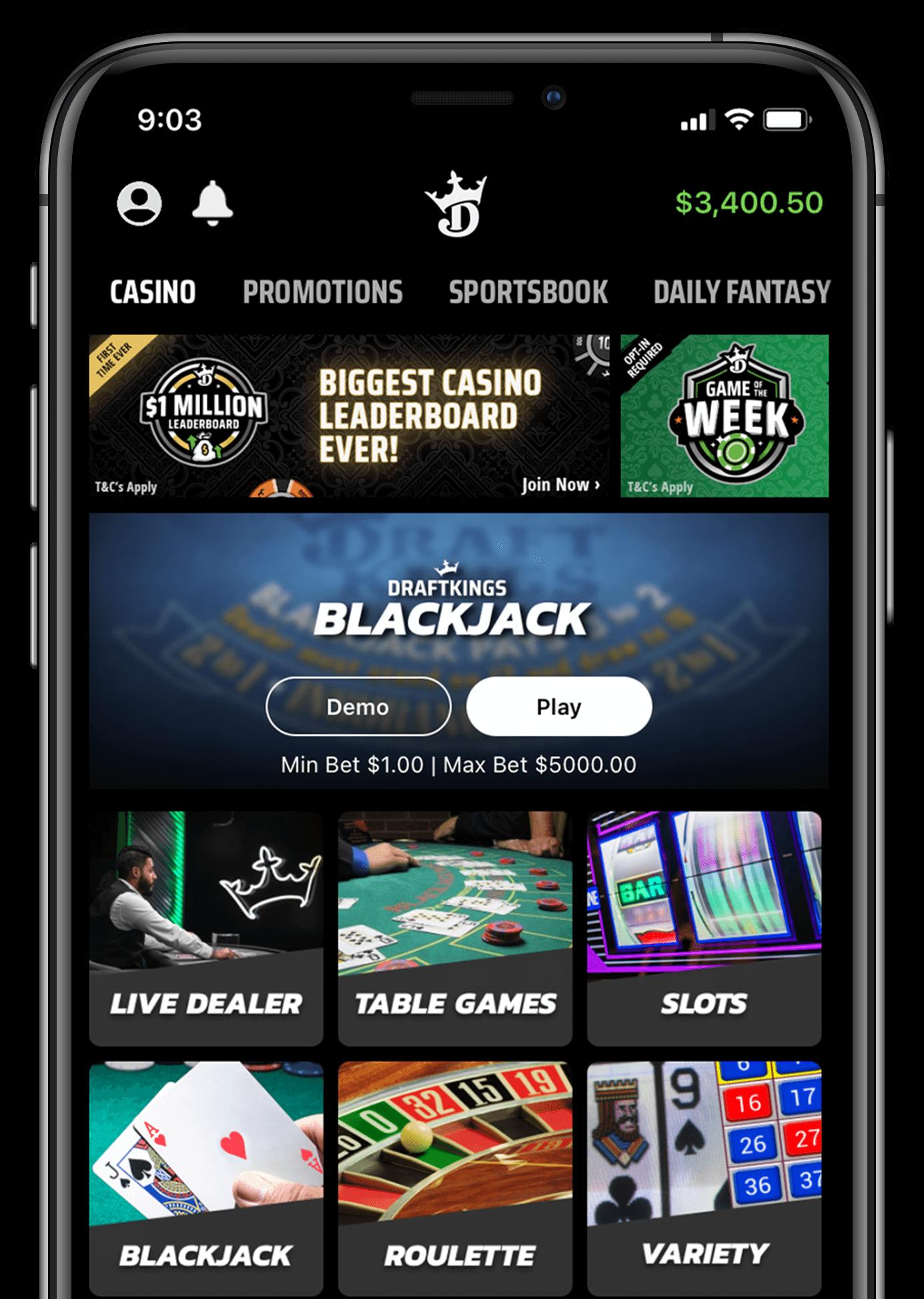 Draftkings blackjack review
