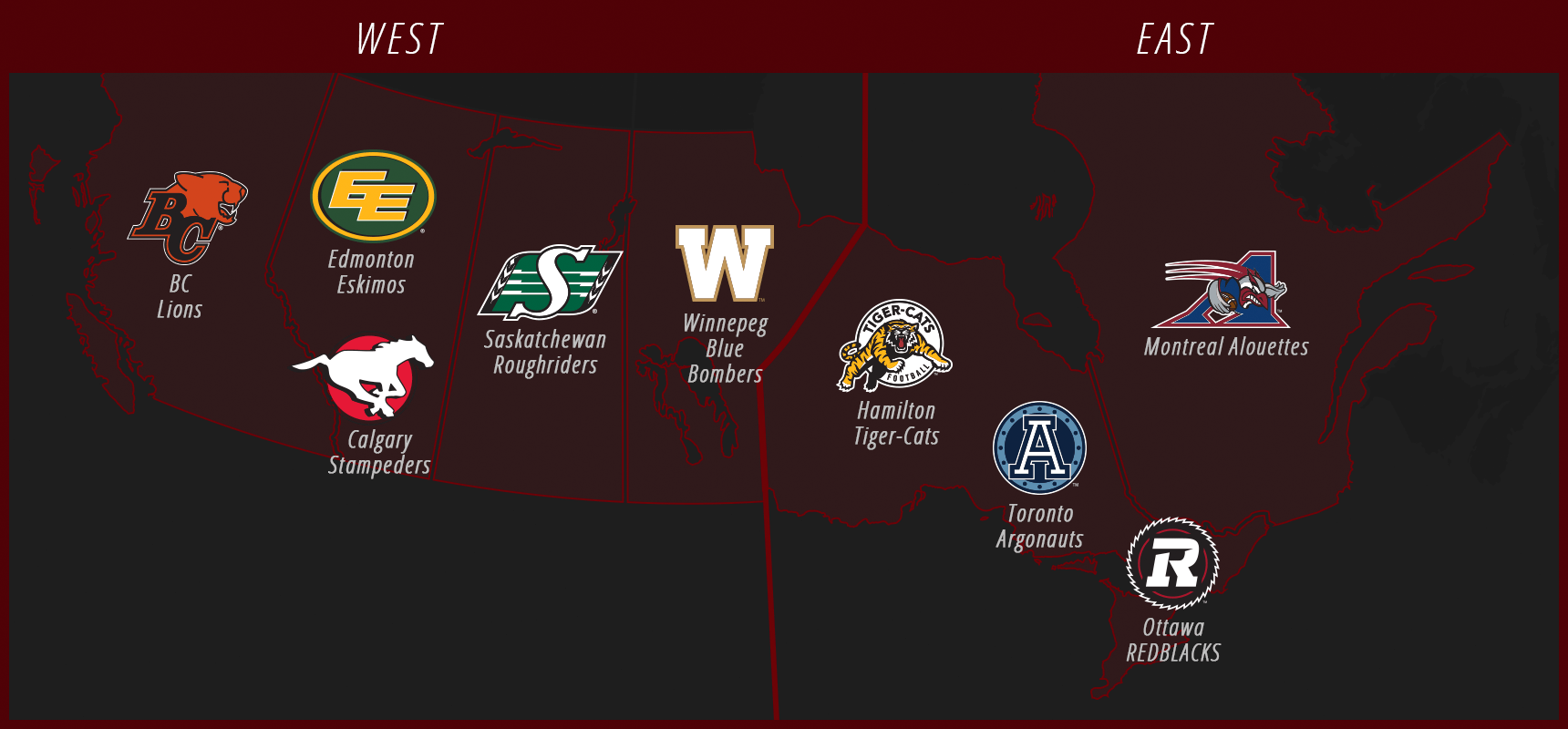 CFL Division Map