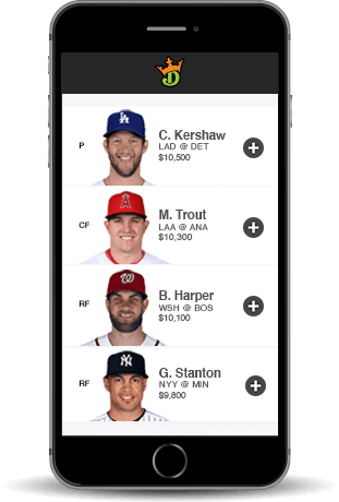 Draftking Baseball App