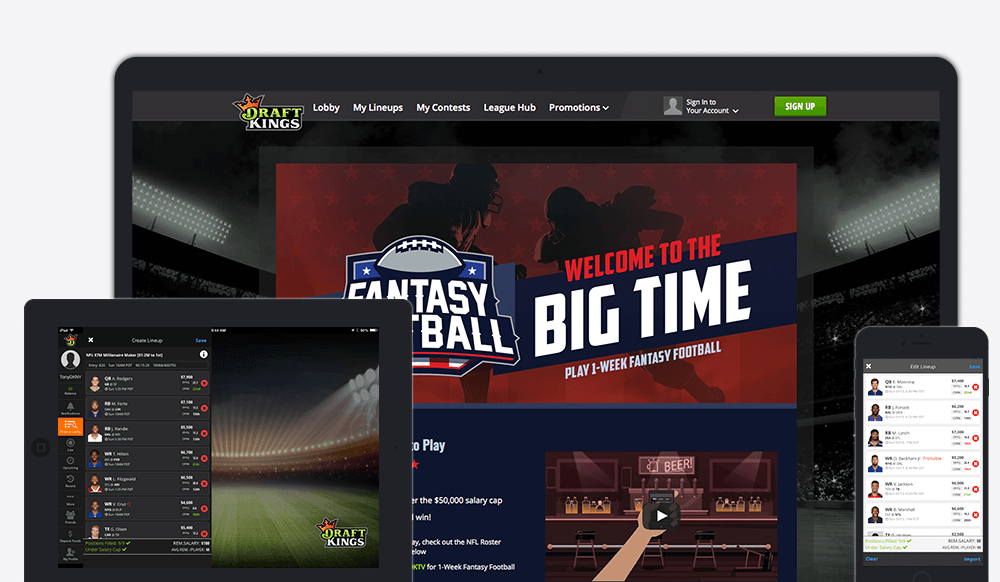 DraftKings Product Screenshots
